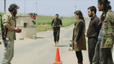 Szenebild: Die drei Geschwister bei einer Grenzkontrolle