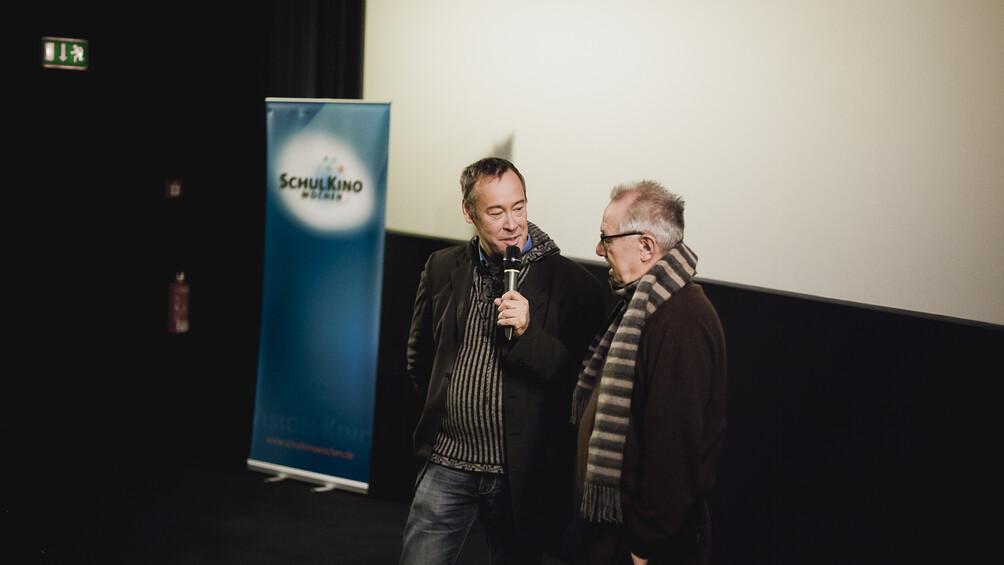 Dieter Kosslick im Gespräch mit Thomas Krüger bei den SchulKinoWochen Berlin 2015