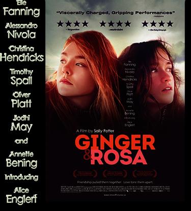 """Filmplakat zu """"Ginger und Rosa"""""""