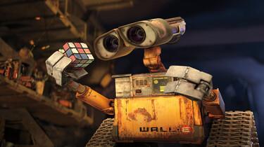 Der Roboter Wall-E ist mit einem Zauberwürfel abgebildet.