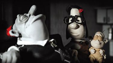 Szenenbild des Knet-Animationsfilms: Mary, Max und ein Baby