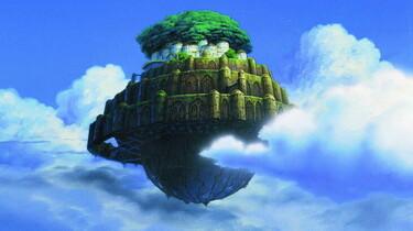 Szenenbild: Ein Schloss im Himmel auf einer Art Weltkugel