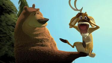 Szenenbild: Grizzly Boog hat den schreienden Hirschen Elliot auf der Hand
