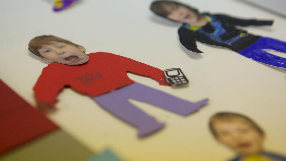 Bild aus einer Trickbox mit Legetrick-Figur