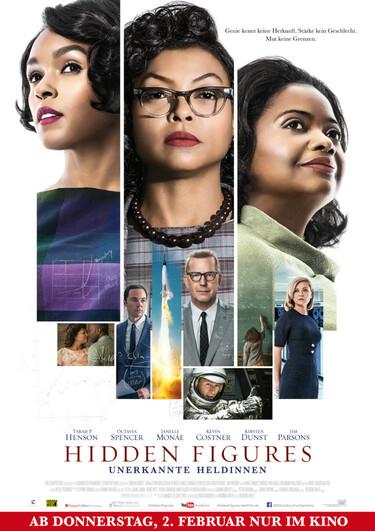 Filmplakat Hidden Figures - Unerkannte Heldinnen