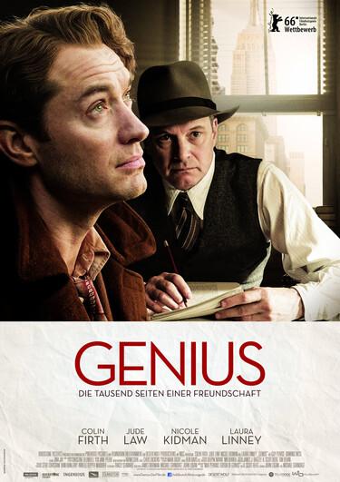 Filmplakat Genius - Die tausend Seiten einer Freundschaft