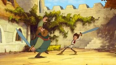 Ritter Trenk kämpft mit dem Schwert mit Ritter Hans von Hohenlob