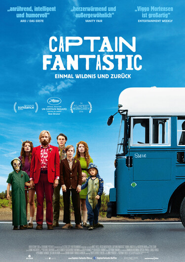 Filmplakat Captain Fantastic - Einmal Wildnis und zurück