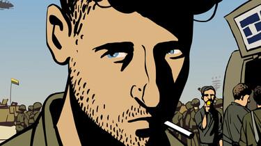 Szenenbild: Der Hautpdarsteller, gezeichnet, raucht eine Zigarette